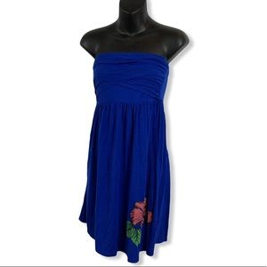 Strapless Candy Couture Flower Accent Dress